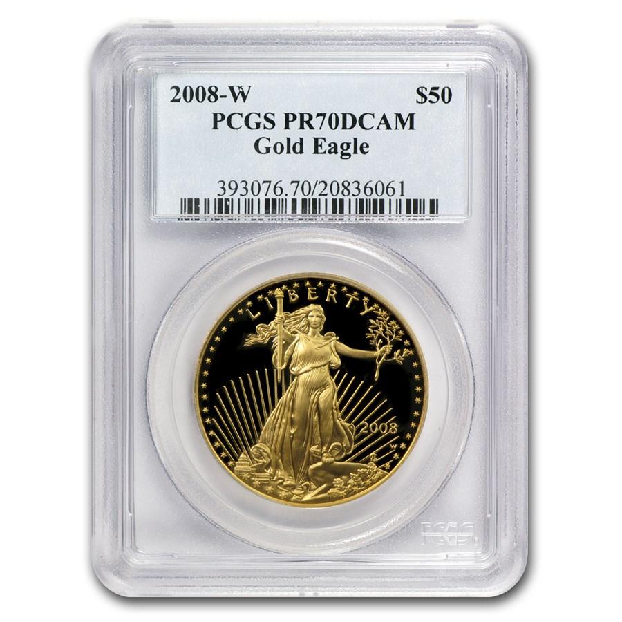 2008-W 1 oz Proof American Gold Eagle PR-70 PCGS
