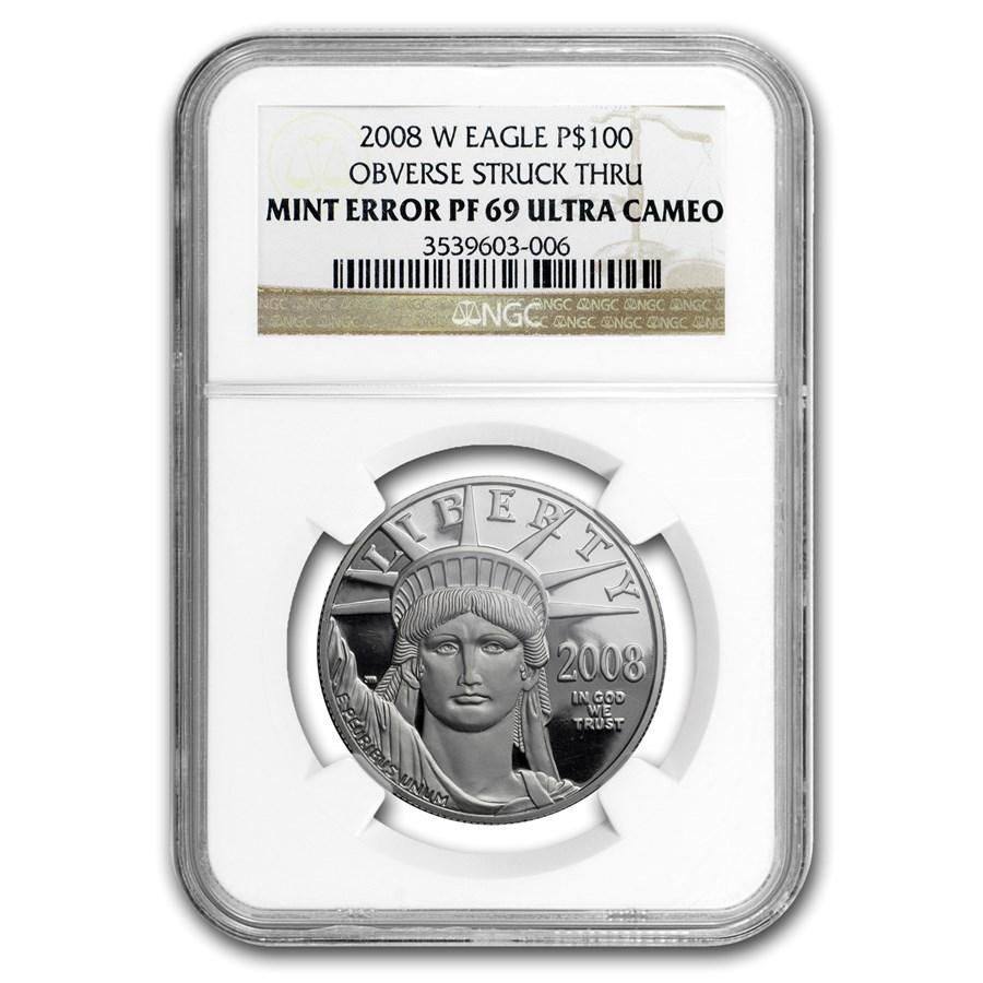 2008-W 1 oz Proof American Platinum Eagle PF-69 NGC (Mint Error)