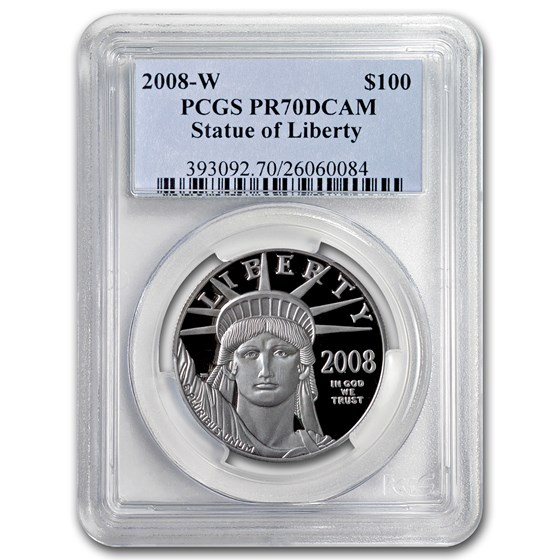 2008-W 1 oz Proof American Platinum Eagle PR-70 PCGS