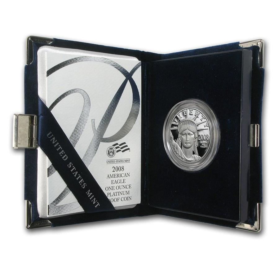 2008-W 1 oz Proof American Platinum Eagle (w/Box & COA)