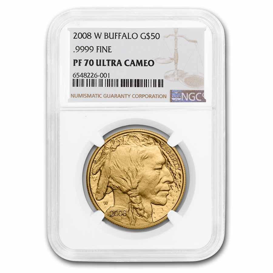 2008-W 1 oz Proof Gold Buffalo PF-70 NGC