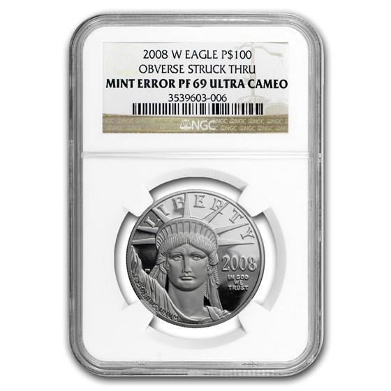 2008-W 1 oz Proof Platinum American Eagle PF-69 NGC (Mint Error)