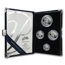 2008-W 4-Coin Proof American Platinum Eagle Set (w/Box & COA)