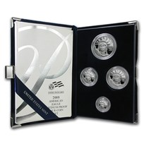 2008-W 4-Coin Proof American Platinum Eagle Set (w/Box & COA)