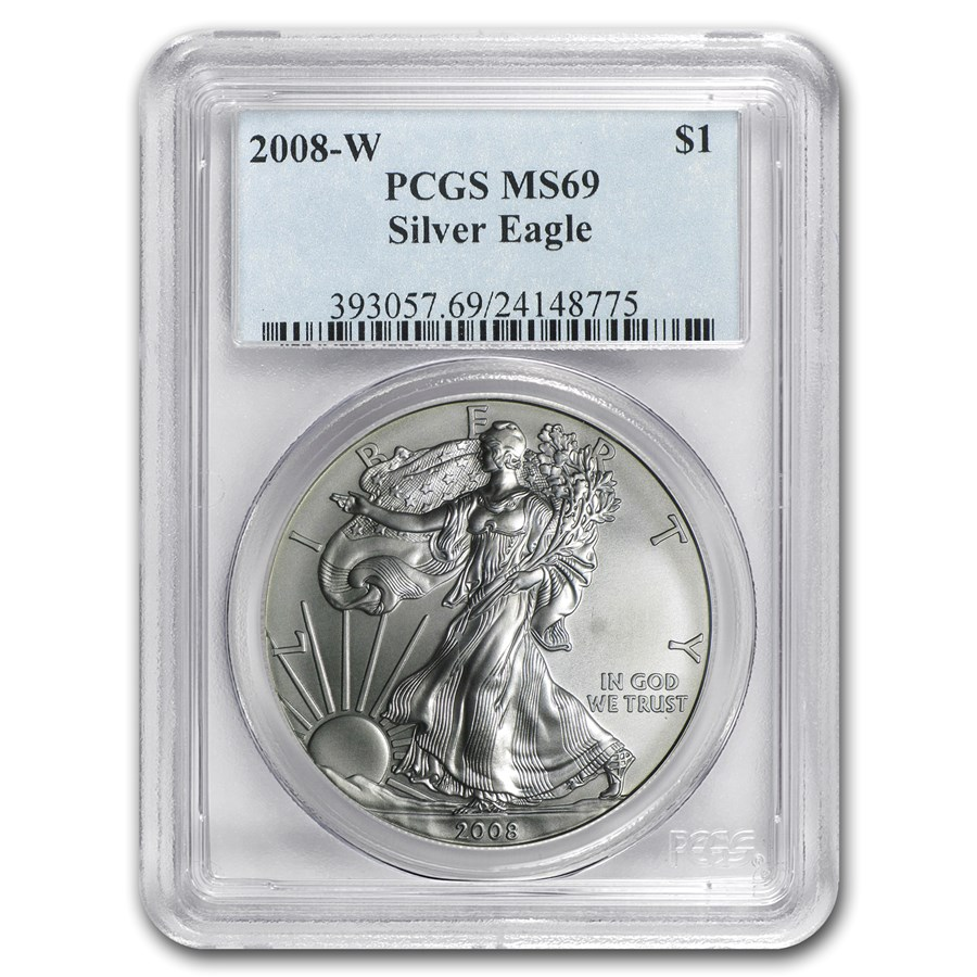 2008-W Burnished American Silver Eagle MS-69 PCGS