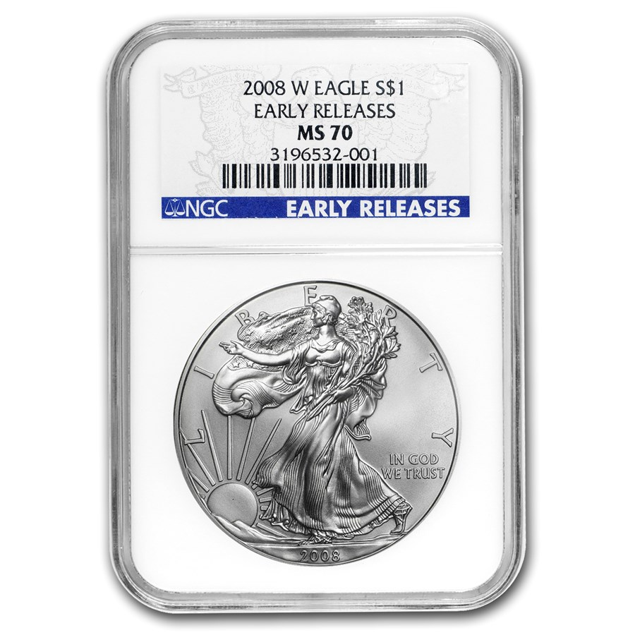 2008-W Burnished American Silver Eagle MS-70 NGC (ER)