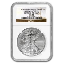 2008-W Burnished American Silver Eagle MS-70 NGC (Rev '07)