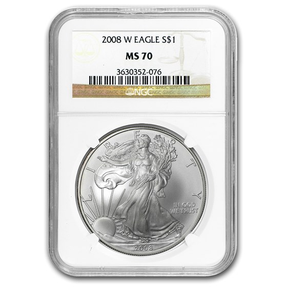 2008-W Burnished American Silver Eagle MS-70 NGC