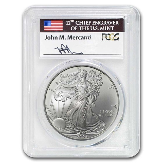2008-W Burnished American Silver Eagle MS-70 PCGS (Mercanti)