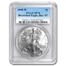 2008-W Burnished American Silver Eagle MS-70 PCGS (Rev '07)