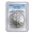 2008-W Burnished American Silver Eagle MS-70 PCGS
