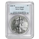 2008-W Burnished American Silver Eagle MS/SP-69 PCGS