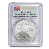 2008-W Burnished American Silver Eagle SP/MS-70 PCGS (FS Rev '07)