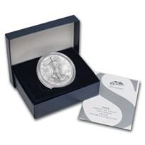 2008-W Burnished American Silver Eagle (w/Box & COA)