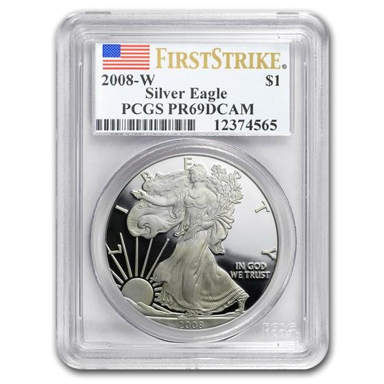 2008-W Proof American Silver Eagle PR-69 PCGS (FS)