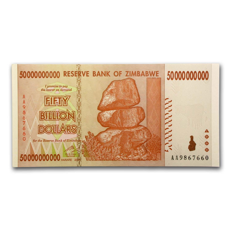 TRILLION 20 50 100 5x 50 BILLION ZIMBABWE DOLLAR 2008 XF CONDITION FAST SHIP