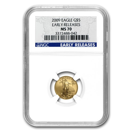 2009 1/10 oz Gold American Eagle MS-70 NGC (Early Releases)