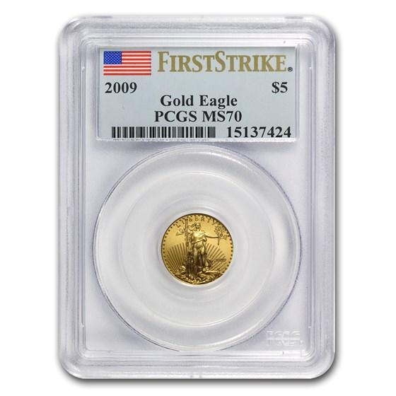 2009 1/10 oz Gold American Eagle MS-70 PCGS (FS)