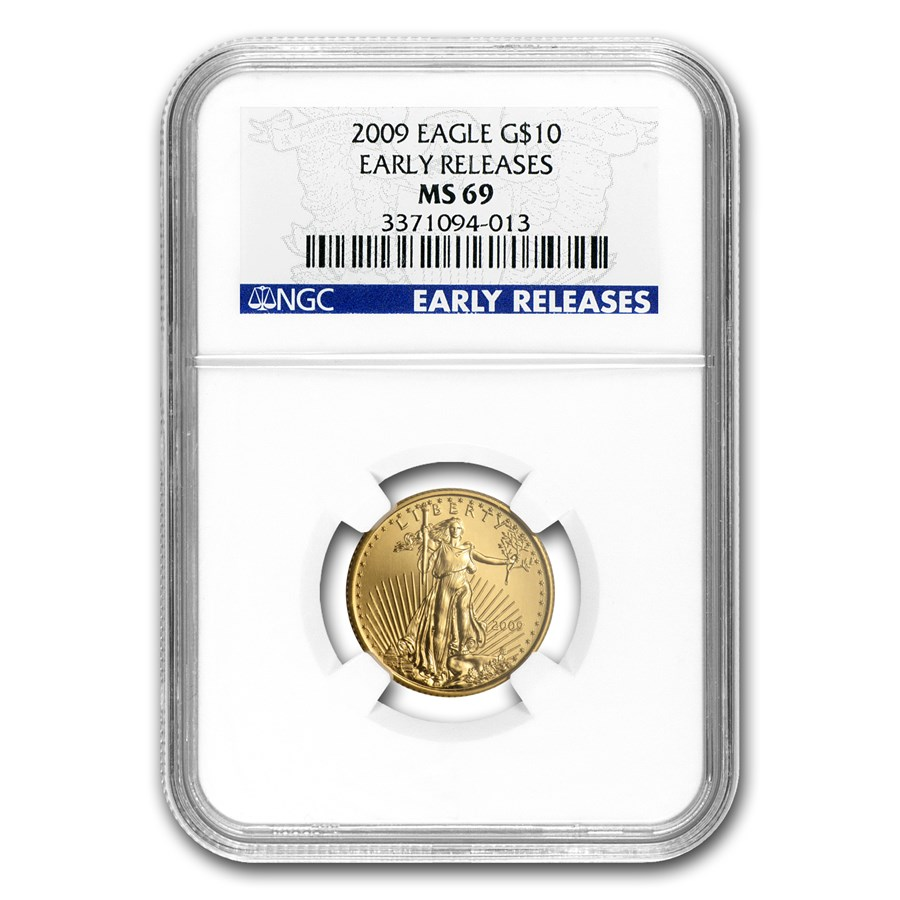 2009 1/4 oz Gold American Eagle MS-69 NGC (Early Releases)