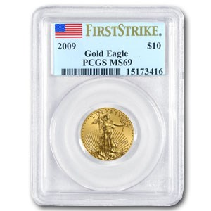 2009 1/4 oz Gold American Eagle MS-69 PCGS (FS)