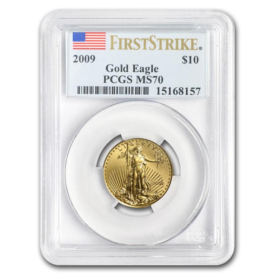 2009 1/4 oz Gold American Eagle MS-70 PCGS (FS)