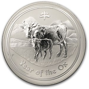 2009 1 kilo Year of the Ox Silver Coin (Light Abrasions)