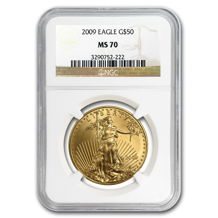 2009 1 oz American Gold Eagle MS-70 NGC