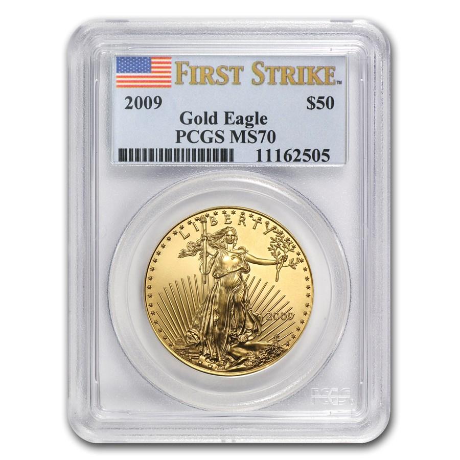 2009 1 oz American Gold Eagle MS-70 PCGS (FS)
