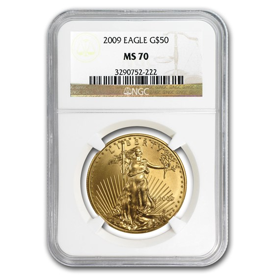 2009 1 oz Gold American Eagle MS-70 NGC