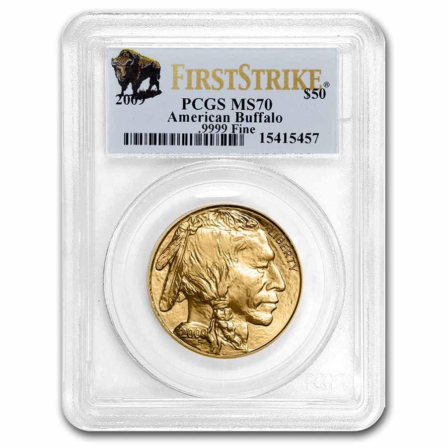 2009 1 oz Gold Buffalo MS-70 PCGS (FirstStrike®)