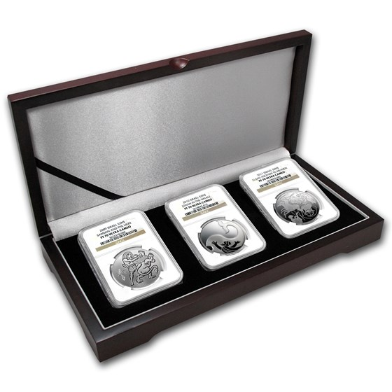 2009-11 Israel 3-Coin Silver 2 NIS Biblical Art Set PF-69 NGC