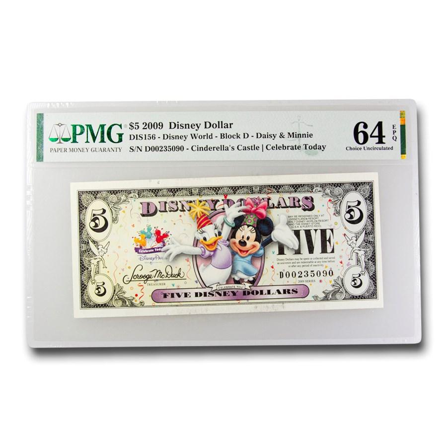 2009 $5.00 Disney Dollar Celebrate Daisy/Minnie CH CU-64 EPQ PMG