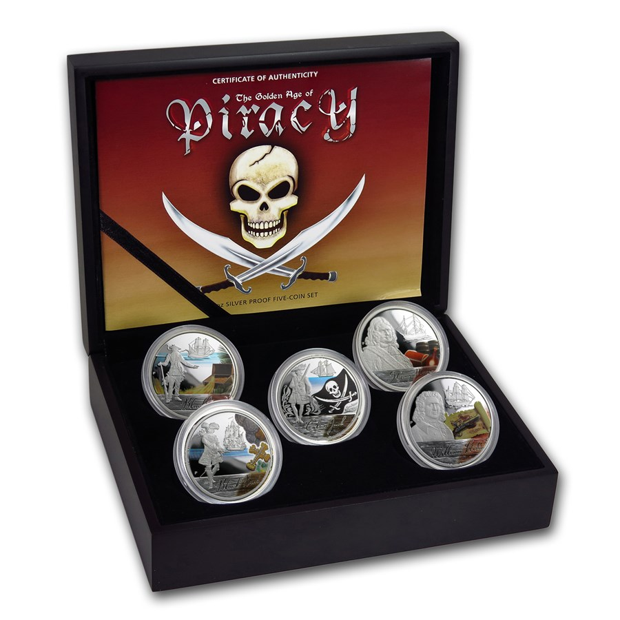 2009 5-Coin Silver Golden Age of Piracy Proof Set