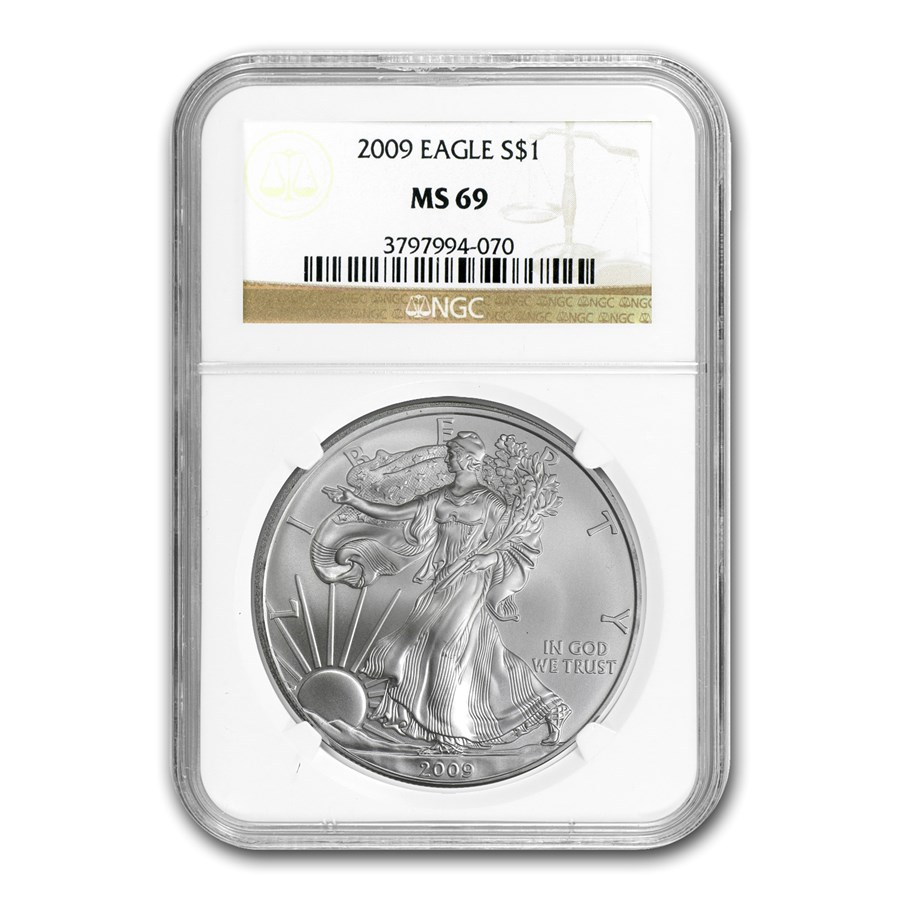 2009 American Silver Eagle MS-69 NGC