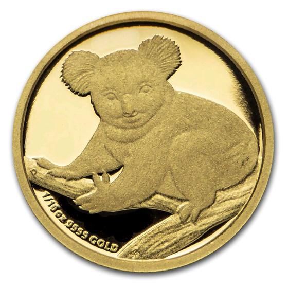 2009 Australia 1/10 oz Gold Koala Proof (w/ Box & COA)