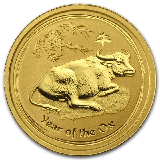 2009 Australia 1/10 oz Gold Lunar Ox BU (Series II)