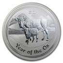 2009 Australia 1/2 kilo Silver Ox BU (Series II, 16.075 oz)