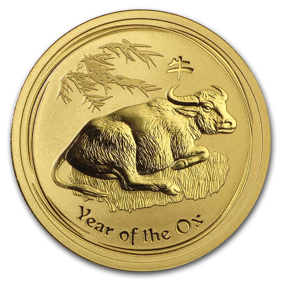 2009 Australia 1/2 oz Gold Lunar Ox BU (Series II)