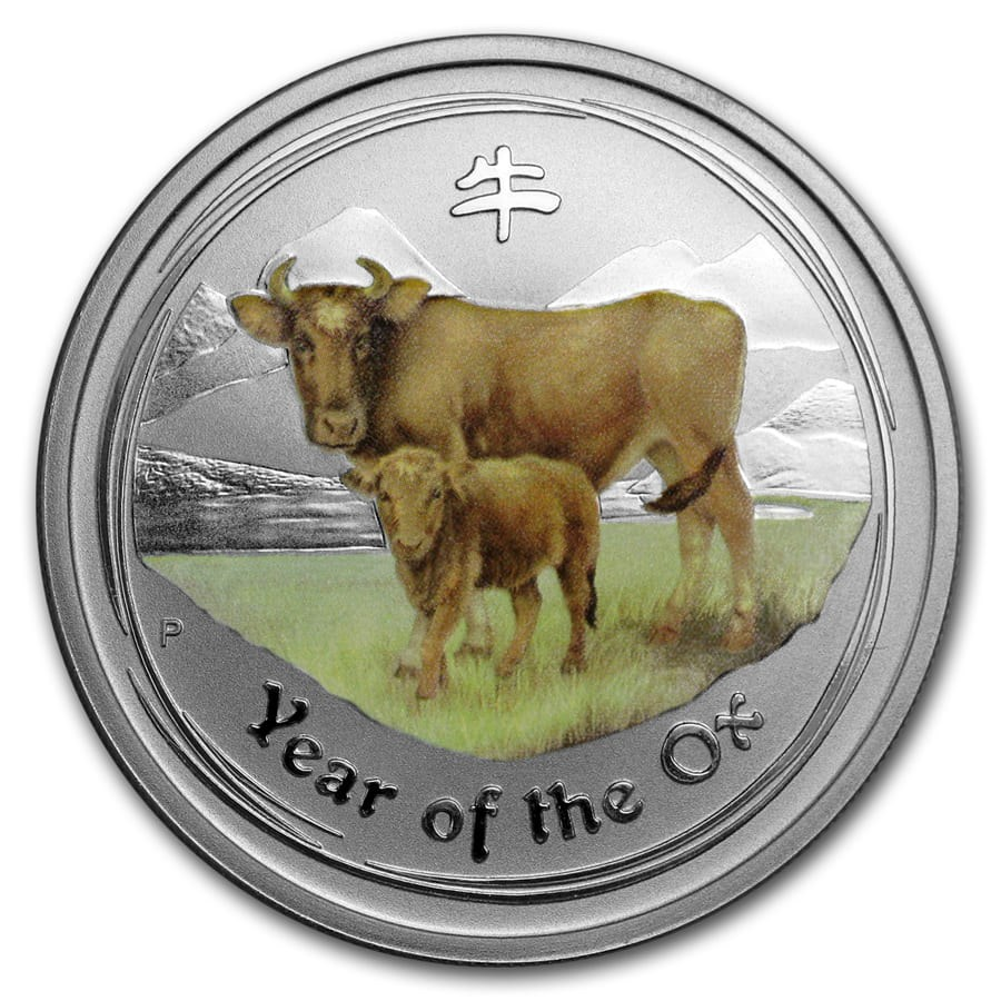 2009 Australia 1/2 oz Silver Ox BU (Series II, Colorized)