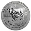 2009 Australia 1/2 oz Silver Year of the Ox BU (Series II)