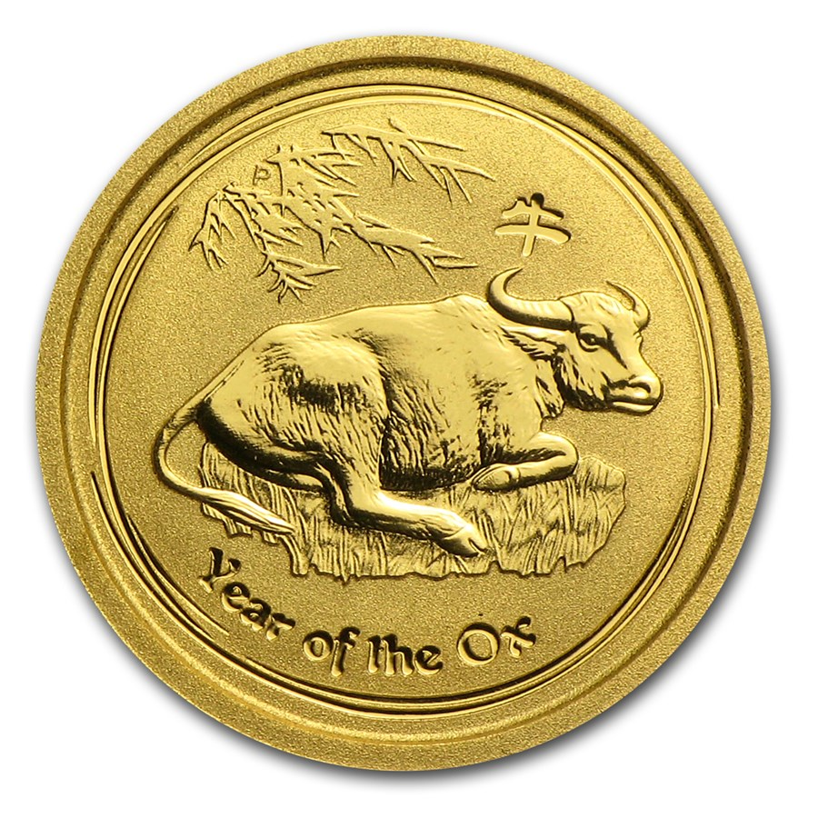 2009 Australia 1/20 oz Gold Lunar Ox BU (Series II)