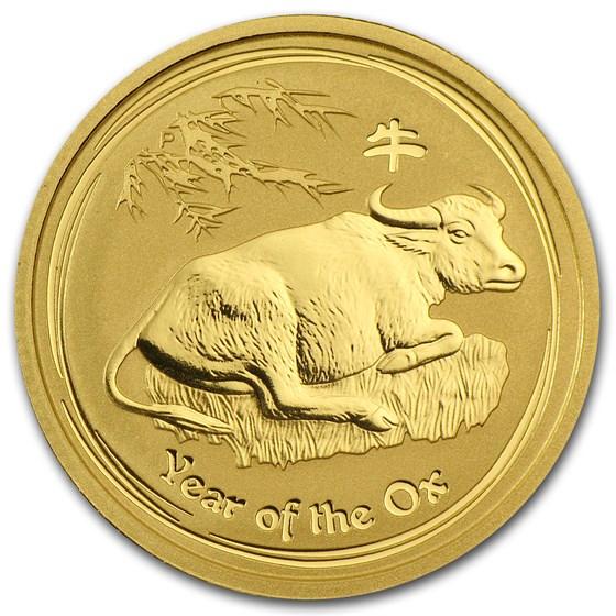 2009 Australia 1/4 oz Gold Lunar Ox BU (Series II)