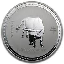 2009 Australia 1 kilo Silver Year of the Ox BU (Series I)