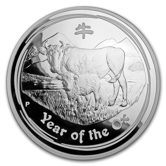 2009 Australia 1 kilo Silver Year of the Ox Proof (Series II)