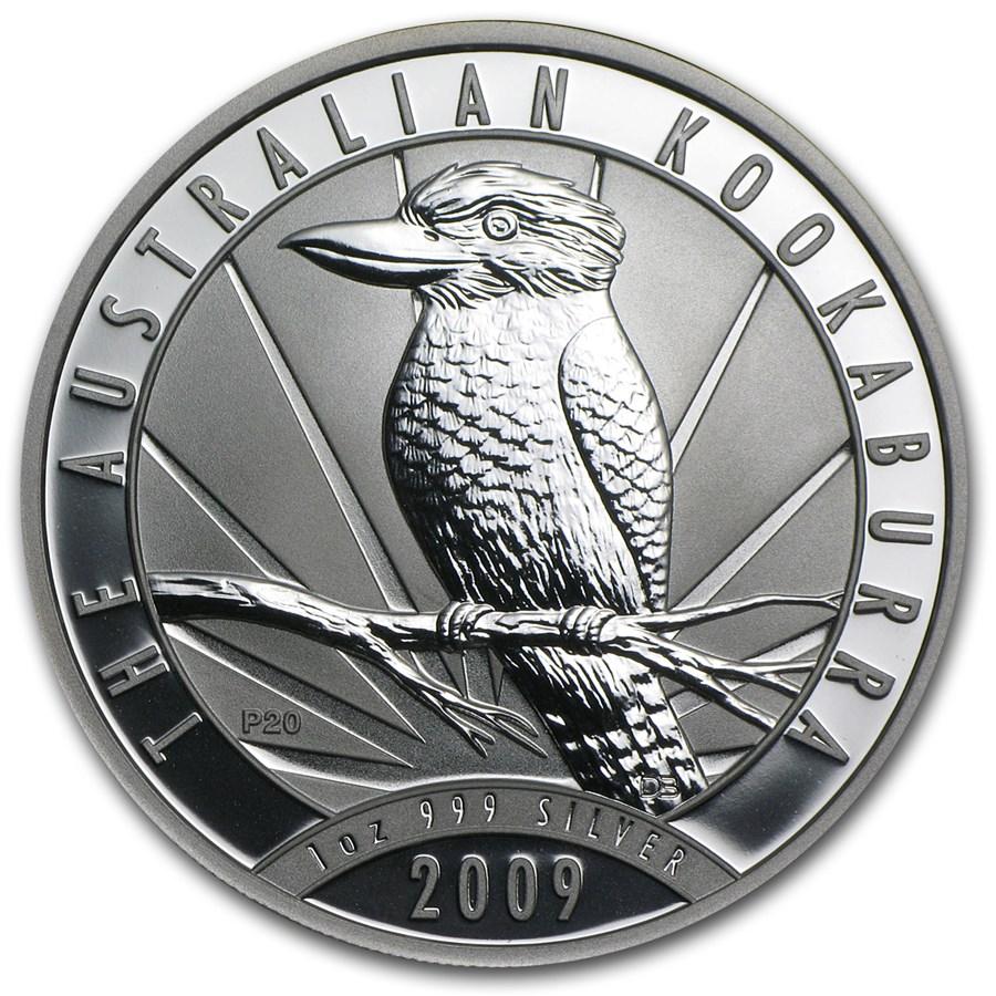 2009 Australia 1 oz Silver Kookaburra BU