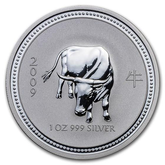 2009 Australia 1 oz Silver Year of the Ox BU (Series I)
