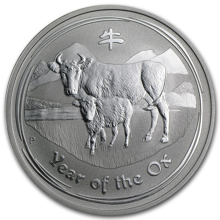 2009 Australia 1 oz Silver Year of the Ox BU (Series II)