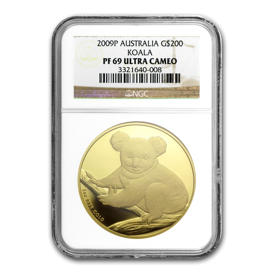 2009 Australia 2 oz Gold Koala PF-69 NGC