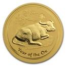 2009 Australia 2 oz Gold Lunar Ox BU (Series II)
