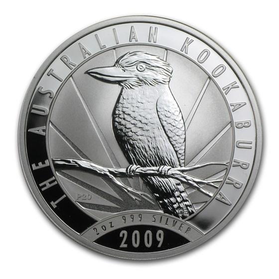 2009 Australia 2 oz Silver Kookaburra BU